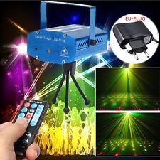 Mini Luz LED R&G Láser Foco Iluminación Projector Efecto Discoteca DJ + Remoto