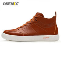 ONEMIX Skateboarding Shoes Men Sneakers Soft Micro Fiber Leather Walking shoes