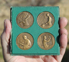 France, set of 4 medals, International Exposition of Art & Techno, 1937, Paris