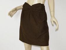 BRITT RYAN Brown Micro-Dot Jacquard Bow Front A-Line Pleated Skirt 6/8