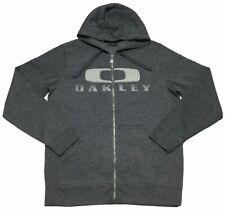 9698 NEW Oakley Hydrofree Fleece Track Sweat Shirt Training Basic Jacket Gray L