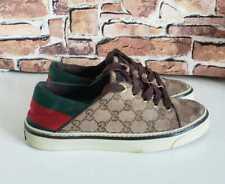 ❤ Gucci GG Monogram Rare EU 38 US 8 Sneakers Mules Stripes Canvas