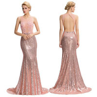 Mermaid Long Bridesmaid Formal Dress Evening Party Prom Gown Banquet Maxi Dress*