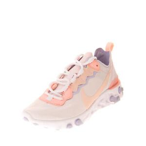 RRP €105 NIKE REACT ELEMENT 55 Sneakers Size 37.5 UK 4 US 6.5 Swoosh Textured