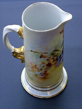 Antique Porcelain Limoges Tankard by Jean Pouyat ~ Limoges France .&