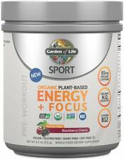 Sport Organic Sugar Free Plant-Based Energy Plus Focus, 40 servings Blackberry C
