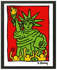 Keith Haring STATUE OF LIBERTY Framed 16x20 Pop Art Print