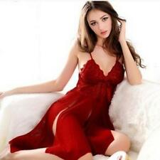Mujeres Sexy vestido de encaje babydoll lenceria Ropa interior pijamas ropa BF