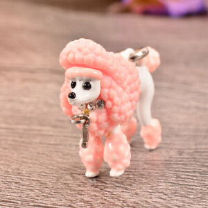 RARE Juicy Couture Pink Poodle w Rhinestone Collar Silver Bracelet Charm YJRUO08