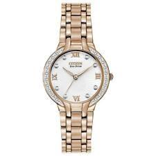 Citizen Eco-Drive Bella Diamond White Dial Gold Tone Women's Watch EM0123-50A SD