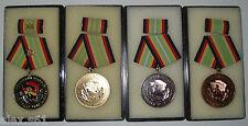 4 DDR Medaillen für treue Dienst in der NVA  1.Satz