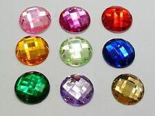 100 Mixed Color Flatback Acrylic Faceted Sewing Rhinestone 16mm Sew on bead