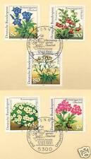 BRD 1991: Naturschutz Nr. 1505-1509 mit Bonner Ersttagssonderstempeln! 1A! 1901
