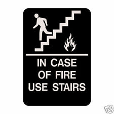 Real In Case Of Fire Use Stairs Braille Sign