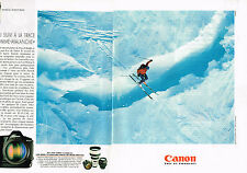 PUBLICITE ADVERTISING  1995   CANON  appareil photo ( 2 pages) EOS 1N