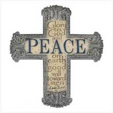 "Peace Cross Magnets, Resin, 3 3/4"" x 3/8"" x 4 1/4"" high. Set of 3"