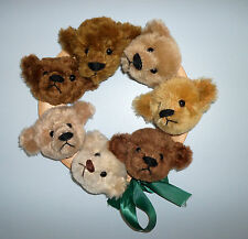 1993 Bearly There Linda Spiegel-Lohre Mohair Promise Ring Signed #10 Bear Heads