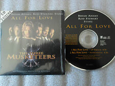 CD-THE THREE MUSKETEERS-ALL FOR LOVE-BRYAN ADAMS/STING/-(CD SINGLE)94-2 TRACK