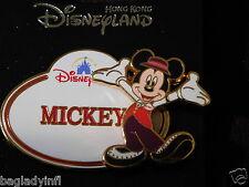 Disneyland Hong Kong Pin Mickey Nametag Pin