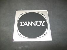 """Tannoy Badge/Emblem, 2 New Old Stock, Factory Stick On.  4 1/8"""" x  4 1/8"""""""
