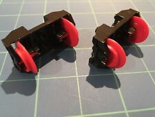 RARE! Lego Train Wheel RC Holder With Pin Slots & Red Wheels - Disney Train NEW