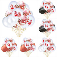 EB_ 15Pcs 12inch Bloody Handprint Footprint Latex Balloons Halloween Party Decor