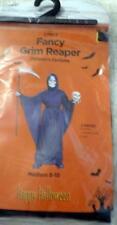 New Black Fancy Grim Reaper Costume M 8-10 Boys Halloween 2 pieces
