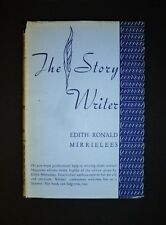 SIGNED!! The Story Writer by Edith R Mirrielees VG HC + Personal Letter FREEship