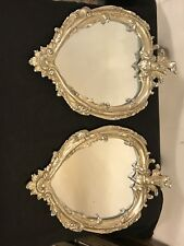 """Mirrors(2) 10""""X14""""resin Floral Pattern Frame.Clean.C8pic4size&details.MAKE OFFER"""