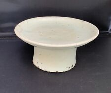 More details for antique korean celadon stem dish- joseon dynasty c. 1880-1910? a/f