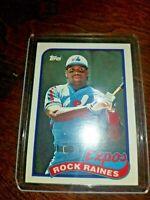 1989 Topps - Montreal Expos - Tim(Rock) Raines #560 HALL OF FAMER