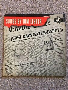 "Songs By Tom Lehrer Vinyl 10"" MONO LFT 1311 VINYL LP. S10"