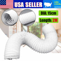 "Portable Air Conditioner Exhaust Hose Tube 6 Inch Diameter 79"" Length Vent US"