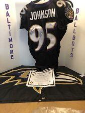 Baltimore Ravens Jarret Johnson Game Worn Jersey 12/7/08 Vs Redskins