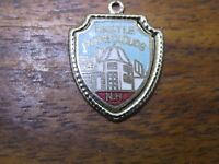 Vintage silver NEW HAMPSHIRE STATE CASTLE IN THE CLOUDS TRAVEL SHIELD charm #E1