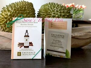 6 Eminence Bright Skin Licorice Root Booster SERUM Card Samples 2ml/.07oz ea +🎁