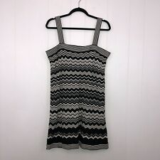 Missoni Target Women's Chevron Sweater Dress Black White Size Large