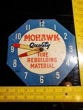 VINTAGE ORIGINAL MOHAWK TIRES GAS OIL METAL ADVERTISING SIGN Rare Rebuilding Mat