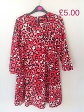 Red Leopard Print Dress Size 8