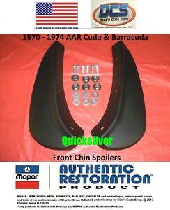 1970 1971 Plymouth Barracuda Cuda Front Chin Spoilers 3443352 3443353 MoPar USA