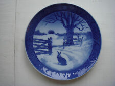Vtg.1971 Royal Copenhagen Collectible Hare In Winter Christmas Plate Kai Lange