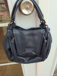 Kooba Handbag Purse Navy Blue Leather