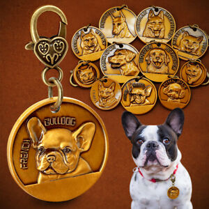 3D Dog Tags for Dogs Engraved Personalized With Name Telephone Custom 11 Breeds