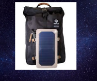 backpack Black Solar Panel Bag School Travel Hiking Laptop18/'/'Camping outdoor*