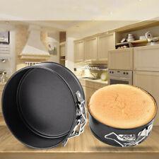 NEW ROUND CAKE TIN SET NON STICK SPRING FORM LOOSE BASE BAKING PAN TRAY