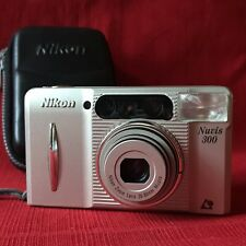 Nikon Nuvis 300 APS Camera Zoom Lens 28-80mm Macro With Case. Point & Shoot