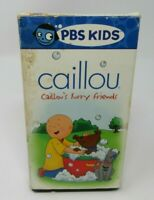 CAILLOU: CAILLOU'S FURRY FRIENDS ANIMATED VHS VIDEO, PBS KIDS, FUN & SURPRISES