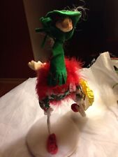 1994 Annalee Ostrich Doll Window Shopper With Bag