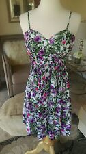Anthropologie NWT Seafolly purple floral dress size S $118