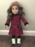 "American Girl Doll 18"" Rebecca Rubin with Red Dress and Boots"